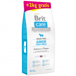 Brit Care Grain-free Junior Large Breed Salmon & Potato 12+2kg ZDARMA
