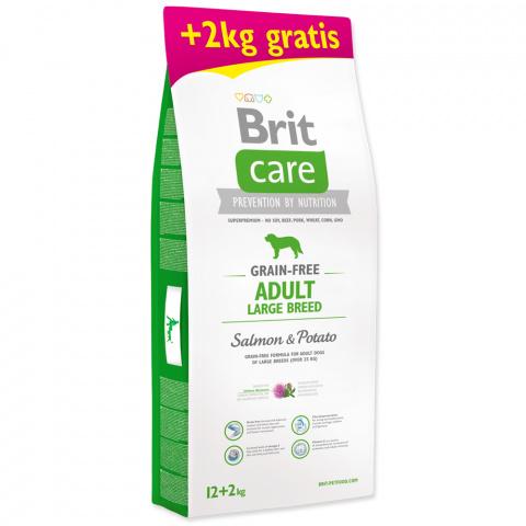 Brit Care Grain-free Adult Large Breed Salmon & Potato 12+2kg ZDARMA