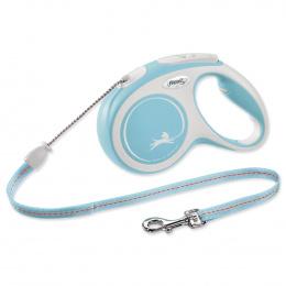 Vodítko Flexi New Comfort lanko M 5m světle modré
