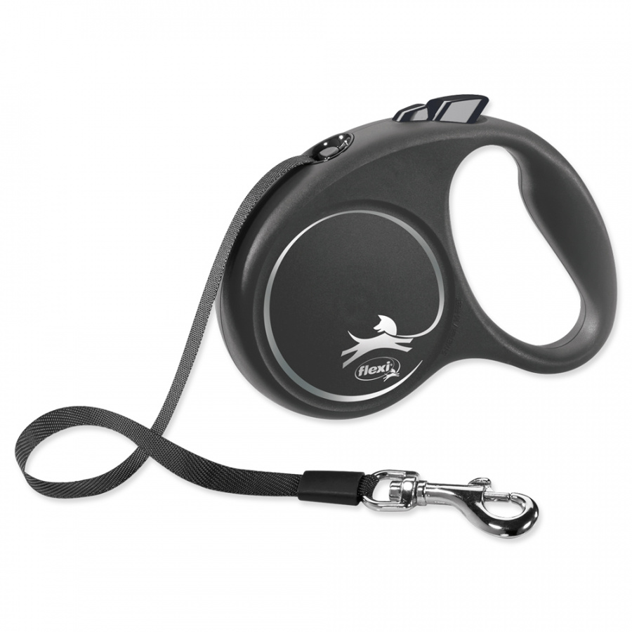 Vodítko Flexi Black Design páska S 5m černé