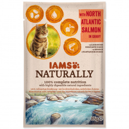 Kapsička IAMS Naturally losos v omáčce 85g