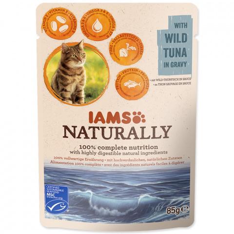 Kapsička IAMS Naturally tuňák v omáčce 85g title=
