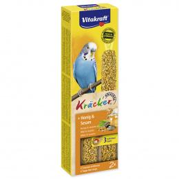 Tyčinky Vitakraft Kracker andulka med a sezam 2ks