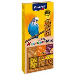 Tyčinky Vitakraft Kracker Trio Mix vejce, med a meruňka 3ks