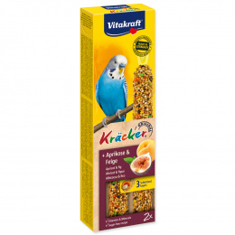 Tyčinky Vitakraft Kracker meruňka a fík 2ks