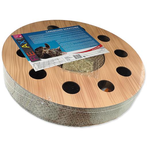 Škrabadlo Magic Cat Interactive kruh kartonové vzor dub
