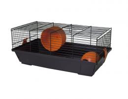 Klec Small Animals Viktor černá s oranžovou výbavou