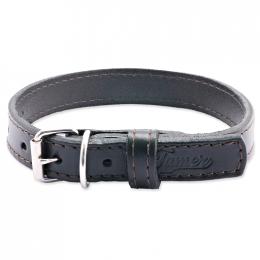 Kožený obojek Tamer 1,9cm/35cm černý
