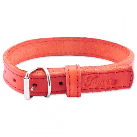 Kožený obojek Tamer 1,9cm/35cm červený title=