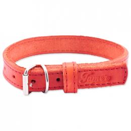 Kožený obojek Tamer 1,9cm/35cm červený