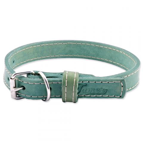 Kožený obojek Tamer 1,9cm/35cm zelený title=