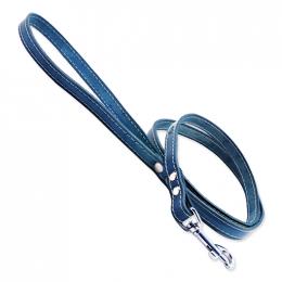 Kožené vodítko Tamer 1,4cm/175cm modrý