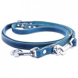 Kožené přepínací vodítko Tamer 1,9cm/2,5m modré