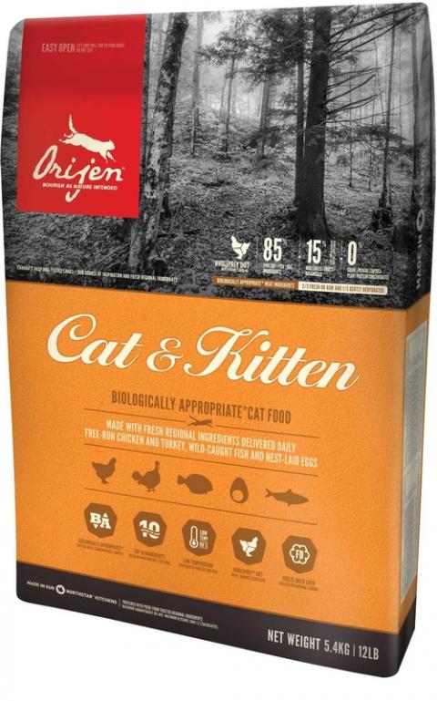 Orijen Cat & Kitten 5,4kg title=