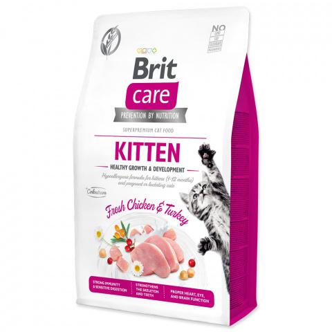 Brit Care Cat Grain-Free Kitten Healthy Growth & Development 2kg title=