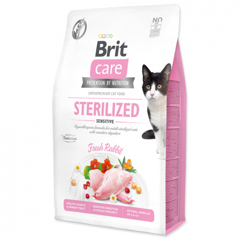 Brit Care Cat Grain-Free Sterilized Sensitive 2kg title=