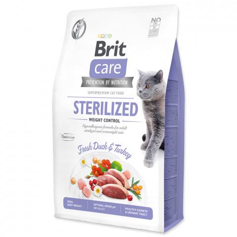 Brit Care Cat Grain-Free Sterilized Weight Control 2kg title=