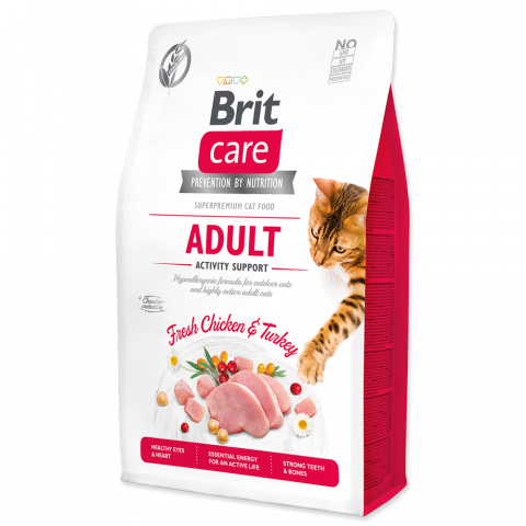 Brit Care Cat Grain-Free Adult Activity Support 2kg title=