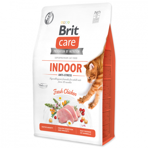 Brit Care Cat Grain-Free Indoor Anti-stress 2kg title=