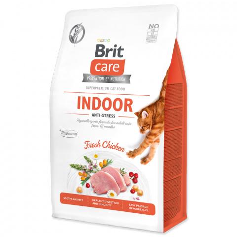 Brit Care Cat Grain-Free Indoor Anti-stress 0,4kg title=