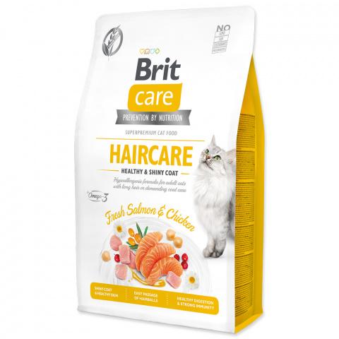 Brit Care Cat Grain-Free Haircare Healthy & Shiny Coat 2kg title=