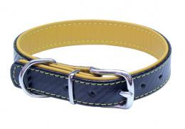 Kožený obojek B&F Carbon 45cm žlutý