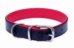 Kožený obojek B&F Carbon 59cm červený