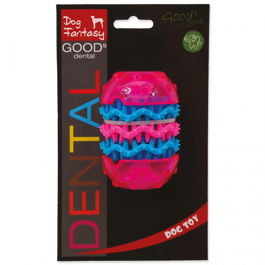Dog Fantasy Dental hračka růžová 9.8cm