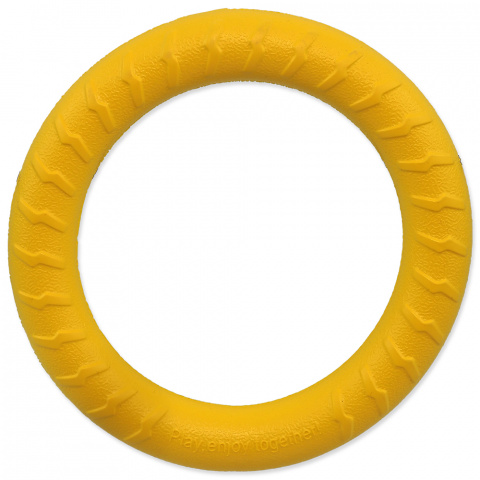 Hračka Dog Fantasy EVA kruh žlutý 18cm   title=