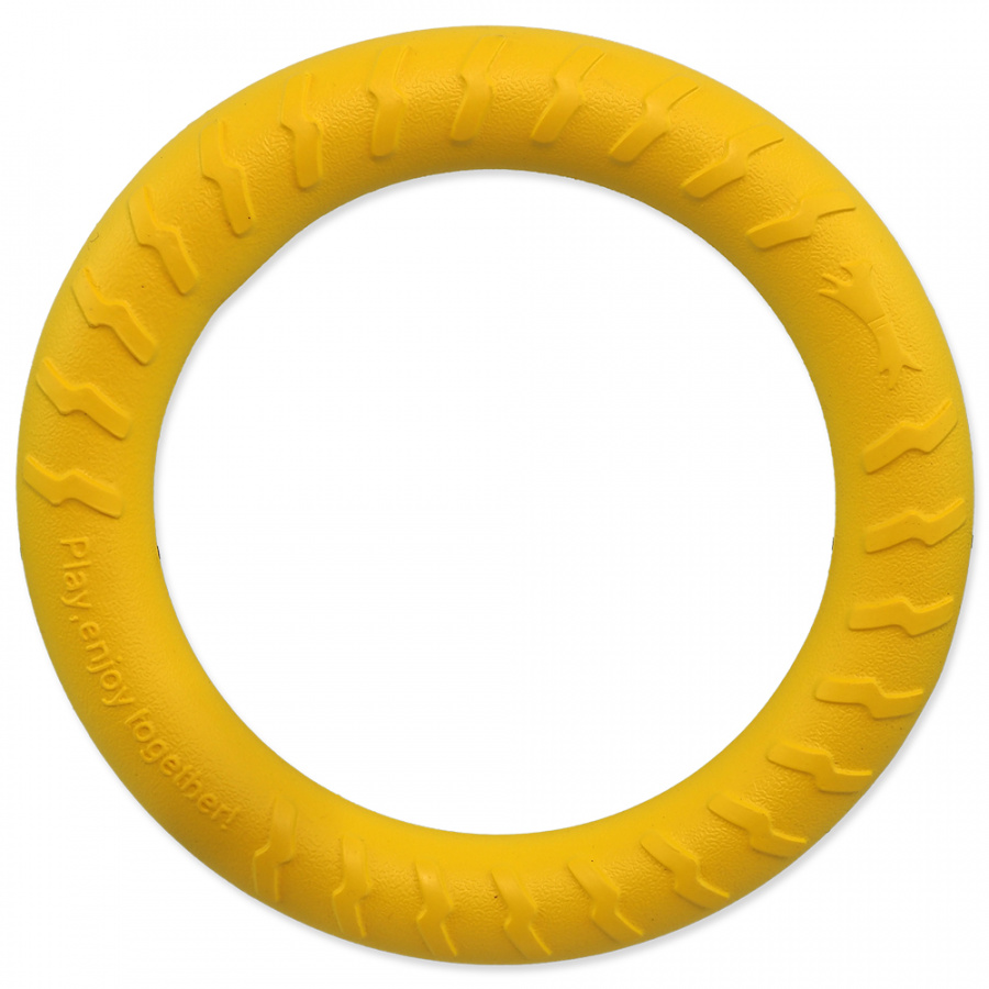 Hračka Dog Fantasy EVA kruh žlutý 30cm