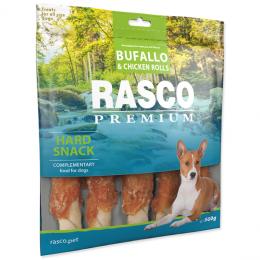 Pochoutka Rasco Premium tyčinky bůvolí L obalené kuřecím masem 500g