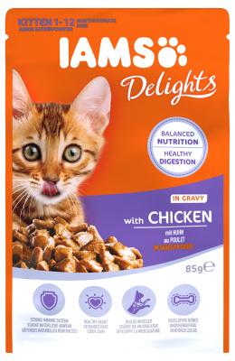 Kapsička IAMS pro koťata s kuřecím masem v omáčce