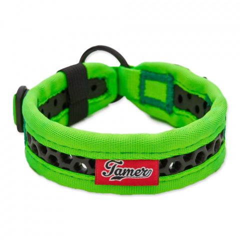 Obojek Tamer Softy 2,8x36cm zelenočerný title=