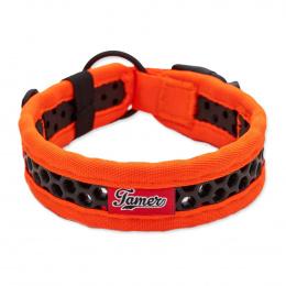 Obojek Tamer Softy 3,3x36cm oranžovočerný