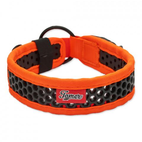 Obojek Tamer Softy 3,8x46cm oranžovočerný title=