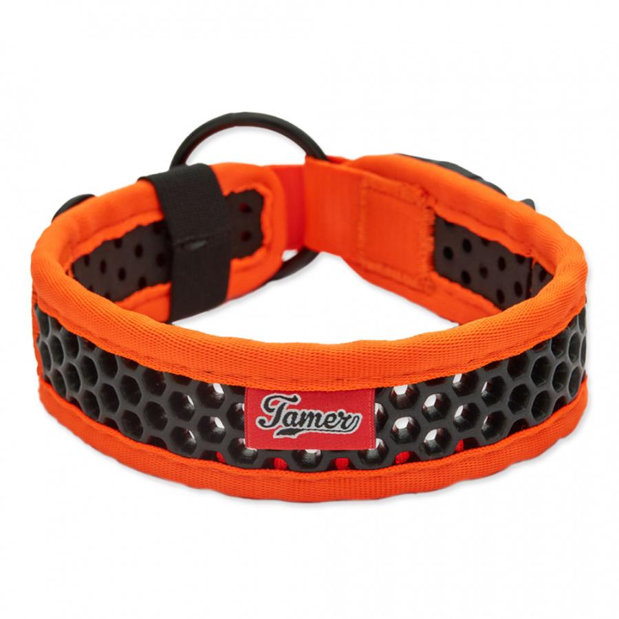 Obojek Tamer Softy 3,8x46cm oranžovočerný