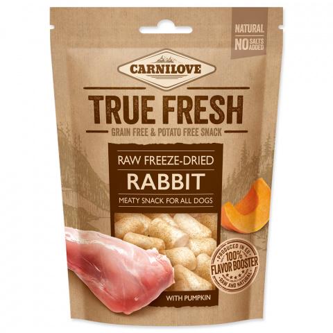 Carnilove Raw freeze-dried Rabbit with pumpkin 40g title=