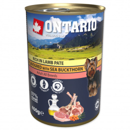 Konzerva Ontario Pate Rich in Lamb Flavoured with Sea Buckthorn 400g