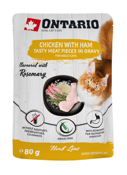 Kapsička Ontario Herb Chicken with Ham 80g