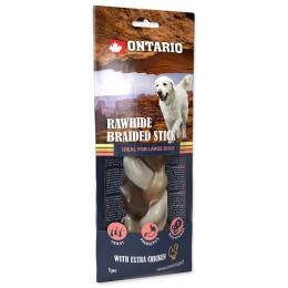 Ontario Rawhide Snack Chicken Braid 20cm