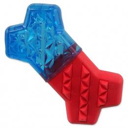 Chladící kost Dog Fantasy červeno-modrá 13,5cm