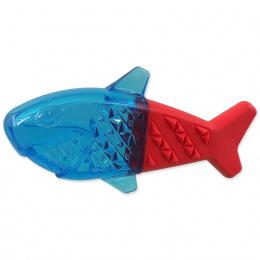 Chladící žralok Dog Fantasy červeno-modrý 18cm