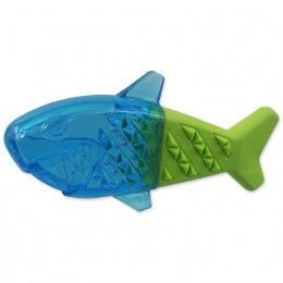 Chladící žralok Dog Fantasy zeleno-modrá 18cm