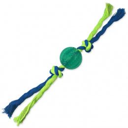 Míček s provazem Dog Fantasy Dental Mint zelený 5x22cm
