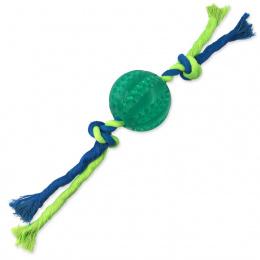 Míček s provazem Dog Fantasy Dental Mint zelený 7x28cm