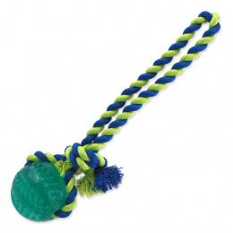 Házecí míček s provazem Dog Fantasy Dental Mint zelený 7x30cm