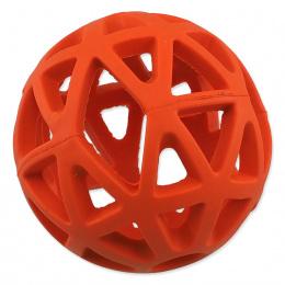 Děrovaný míček Dog Fantasy oranžový 7cm