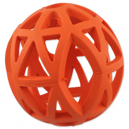 Děrovaný míček Dog Fantasy oranžový 12,5cm