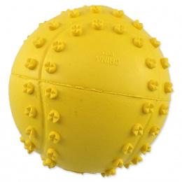Míček Dog Fantasy tenis s bodlinami pískací mix barev 6cm
