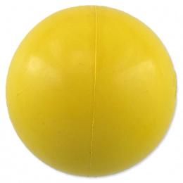 Míček Dog Fantasy tvrdý žlutý 6cm